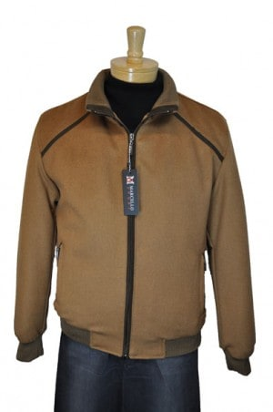 Marcello Sport Tan Wool-Cashmere Bomber Jacket #J390-CGNC