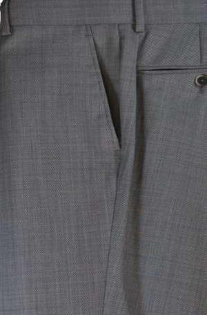 Tiglio Gray Nailhead Dress Slacks #JT6209-5