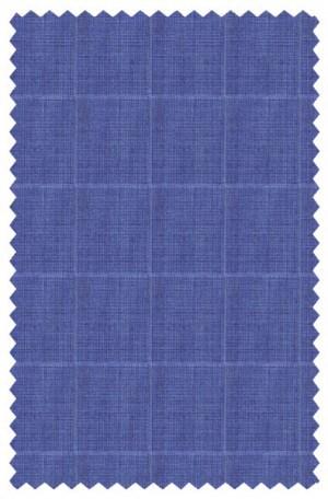 Michael Kors Blue Windowpane Tailored Fit Suit K2Z1248