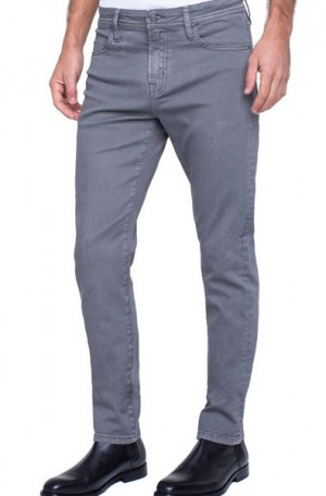 """Brit Britches"" Sharkskin Gray Slim Straight Leg Jeans from Liverpool #LGS300DC34-040"