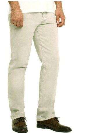 """Brit Britches"" Tan Slim Straight Leg Jeans from Liverpool #LGS300DC34-295"