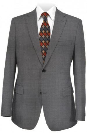 Max Davoli Gray Solid Color Tailored Fit Suit #MD1264-51