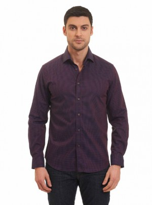 Robert Graham Barta Burgundy Sportshirt MF161105TF-BURG