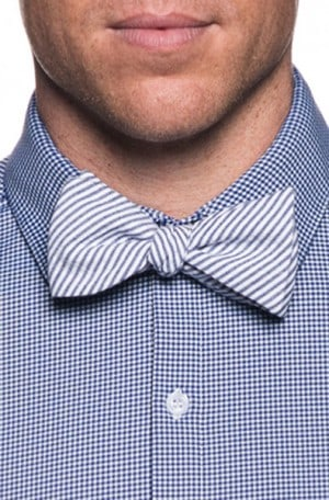 Mizzen+Main Navy Check Slim Fit Spinnaker Shirt #MM-1500-BG