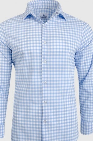 Mizzen+Main Blue Check Performance Sport Shirt #MM-5200