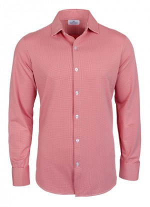 Mizzen+Main Red Check Slim Fit Spinnaker Shirt #MM-SS14-4400