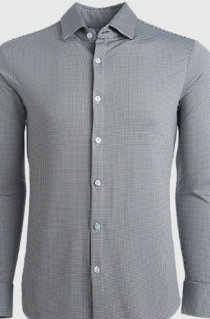 Mizzen+Main Black & White Check Slim Fit Shirt #MM5800