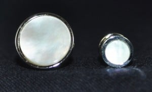 Cuff Link & Studs in Silver & Mother of Pearl #MOP-S