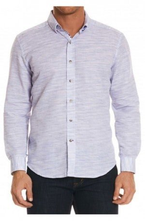 "Robert Graham ""Tully"" Dobby Weave Tailored Fit Shirt #MS181102TF"