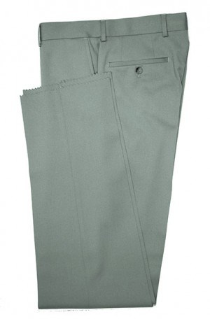VILLAROMA Medium Grey Solid Color SLACKS MZ-02