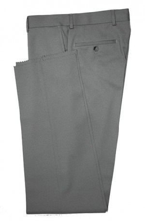 VILLAROMA Medium Grey Solid Color SLACKS MZ-03