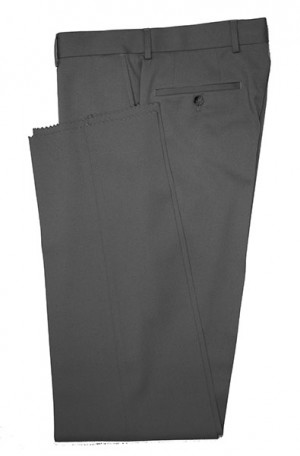 VILLAROMA Dark Grey Solid Color SLACKS MZ-04
