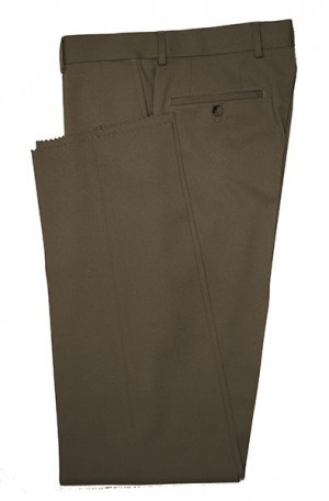 VILLAROMA Dark Brown Solid Color SLACKS MZ-09