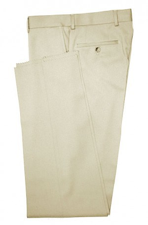 VILLAROMA Tan Solid Color SLACKS MZ-14