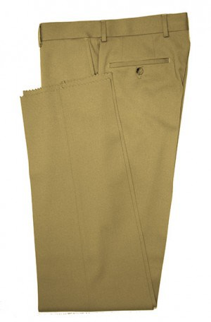 VILLAROMA Tan Solid Color SLACKS MZ-40