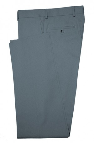 VILLAROMA Medium Blue Solid Color SLACKS MZ-44