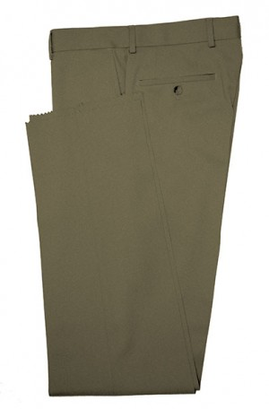 VILLAROMA Olive Green Solid Color SLACKS MZ-47
