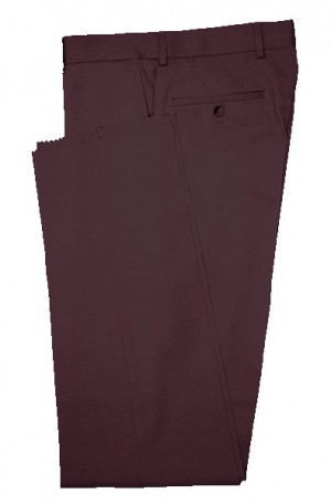 VILLAROMA Burgundy Solid Color SLACKS MZ-55