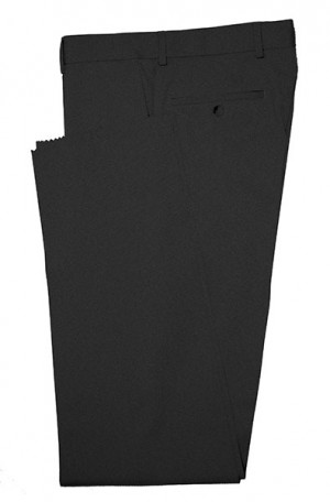 VILLAROMA Black Solid Color SLACKS MZ-5