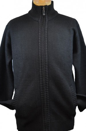 True Rock Black Double Layer Cardigan #OCTOBER-700-BLK