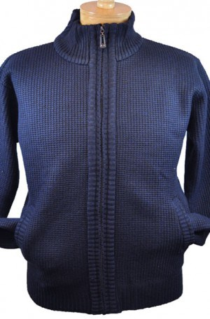 True Rock Navy Fleece-Lined Cardigan #OCTOBER-700