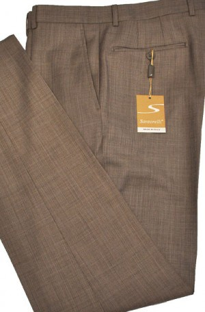 Santorelli Light Brown Slim Fit Dress Slacks #OPT-142-1
