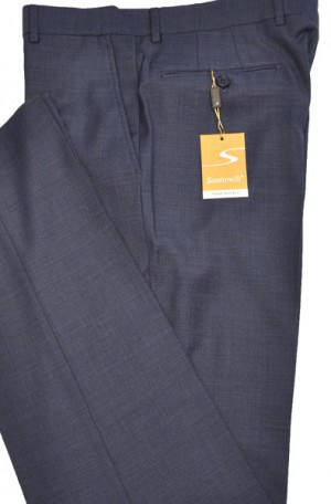 Santorelli Medium Blue Slim Fit Dress Slacks #OPT-142-3