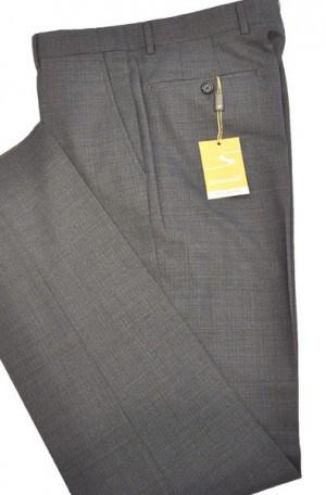 Santorelli Heathered Blue Slim Fit Dress Slacks #OPT-148-2