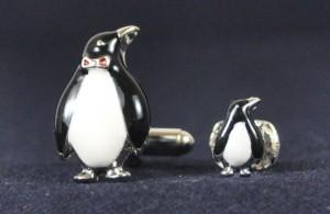 Penguin Cuff Link and Stud Set #PENGUIN