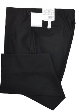 Calvin Klein Black Herringbone Suit Pant