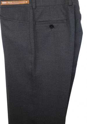 Jack Victor Charcoal Textured 'Casual Dress' Slacks #R300345