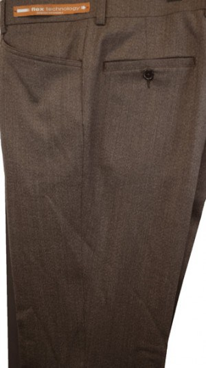 Jack Victor Medium Brown 'Casual Dress' Slacks #R300610