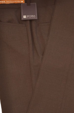 Jack Victor Riviera Dark Brown Slim Fit Casual Dress Slacks #R302830