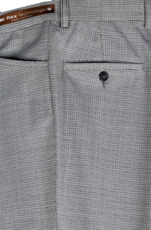 Jack Victor Black & White Check Casual Dress Slacks #R304-304