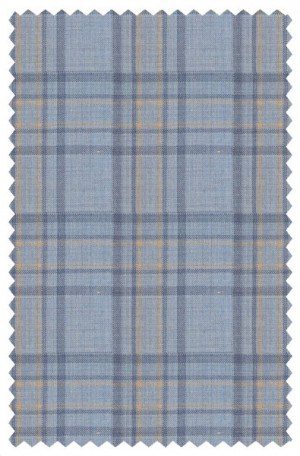 Tiglio Blue Pattern Tailored Fit Sportcoat #R74223-6