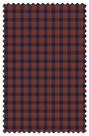 Tiglio Rust & Blue Check Tailored Fit Sportcoat #R74234-8