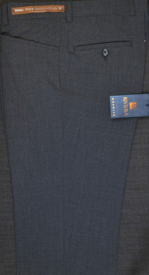 Jack Victor Riviera Charcoal Slim Fit Slacks #R892-49