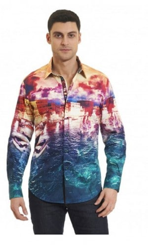 Robert Graham Venetian Lagoon Sportshirt #RF161002CF