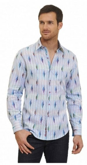 Robert Graham Cloud City Sportshirt RR161021CF