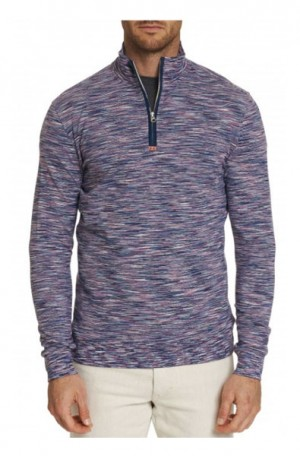 Robert Graham Carney Classic Fit 1/4-Zip Knit #RS196041CF