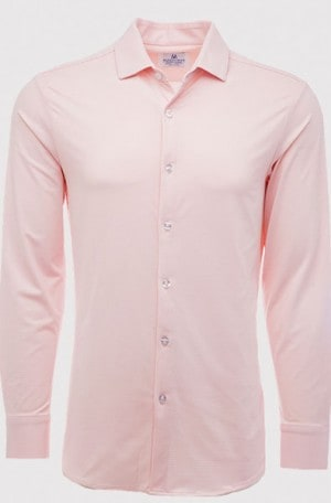 Mizzen+Main Soft Pink Check Slim Fit Shirt #S-5010