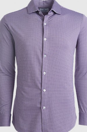 Mizzen+Main Purple Check Slim Fit Spinnaker Shirt #S6000