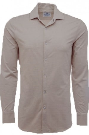 Mizzen+Main Taupe Check Slim Fit Spinnaker Shirt #S6003