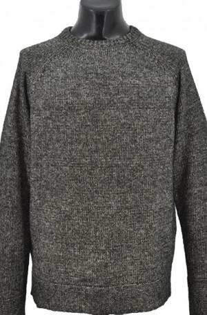 Schott Charcoal-Black Cotton Crewneck Sweater #SW1815-BLK