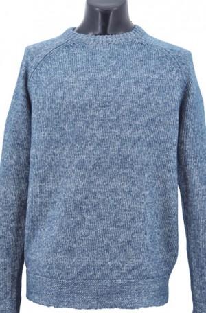 Schott Teal-Blue Cotton Crewneck Sweater #SW1815-BLUE