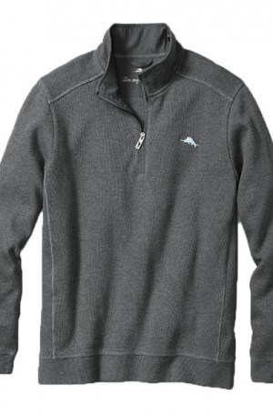 Tommy Bahama Gray Nassau Half-Zip Sweatshirt #T214575-074