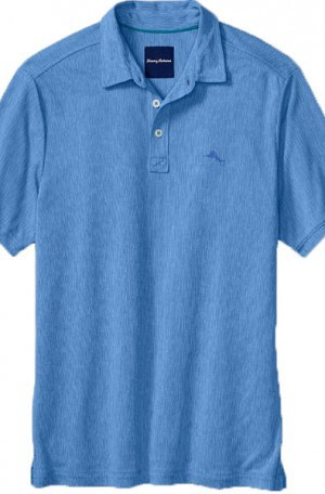 Tommy Bahama Blue Textured Polo #T216137-12854