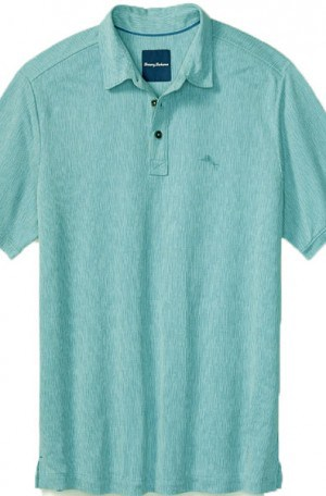 Tommy Bahama Light Blue Textured Polo #T216137-5578