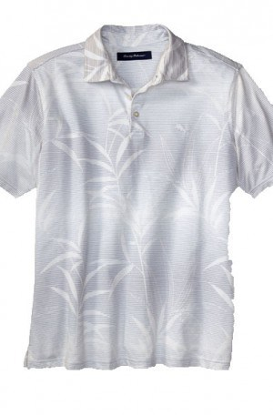 Tommy Bahama White Pattern Polo #T216423-033