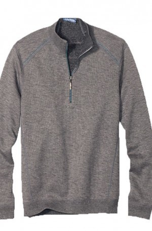 Tommy Bahama Gray 1/4-Zip Flipsider Reversible Pullover #T217391-55367